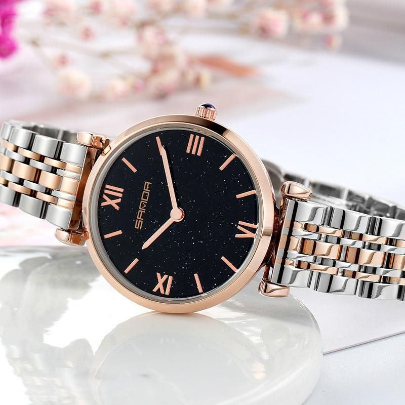 New womens  Watch Starry Sky Diamond Fashion Trend Same Net Red Steel Band Female Quartz Watches