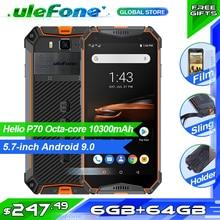 """هاتف Ulefone Armor 3 واط IP68 مقاوم للماء هاتف محمول 10300mAh 5.7 """"FHD + ثماني النواة 6 جيجابايت 64 جيجابايت helio P70 Android9 النسخة العالمية للهواتف الذكية"""
