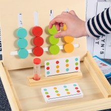 Montessori Preschool Learning Colors Matching Game Logical Reasoning Training Wooden Toys for Children Early Educational Toys стоимость