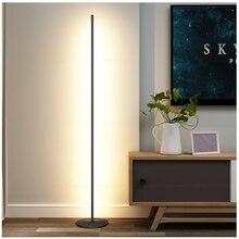 Mondern светодиодный напольный светильник с вертикальной полоской и круглой палкой, напольный светильник для спальни, художественный Декор для гостиной, атмосферный напольный светильник, светильник