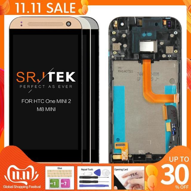 """100% تم اختبارها 4.5 """"ل HTC One Mini 2 M8 Mini LCD تعمل باللمس مع الإطار ل HTC One Mini 2 M8 Mini عرض محول الأرقام الجمعية"""
