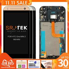 "100% test 4.5 ""HTC One Mini 2 için M8 Mini LCD dokunmatik ekran için çerçeve ile HTC One Mini 2 M8 Mini ekran Digitizer meclisi"