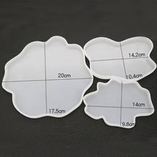 Irregular Coaster Cup Mat Mold Manual Mirror UV Resin Table Decoration DIY Crystal Epoxy Molds X7YC(China)