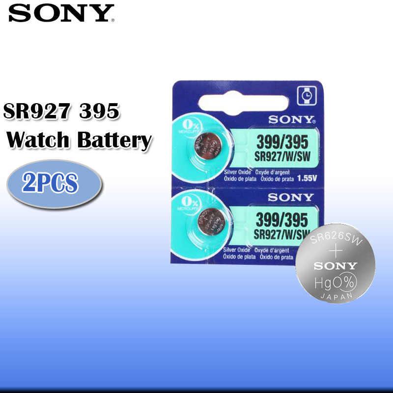 2 יח'\חבילה Sony 100% מקורי 395 SR927SW 399 SR927W AG7 LR927 1.55V כסף אוקסיד צפה סוללה MADE ביפן