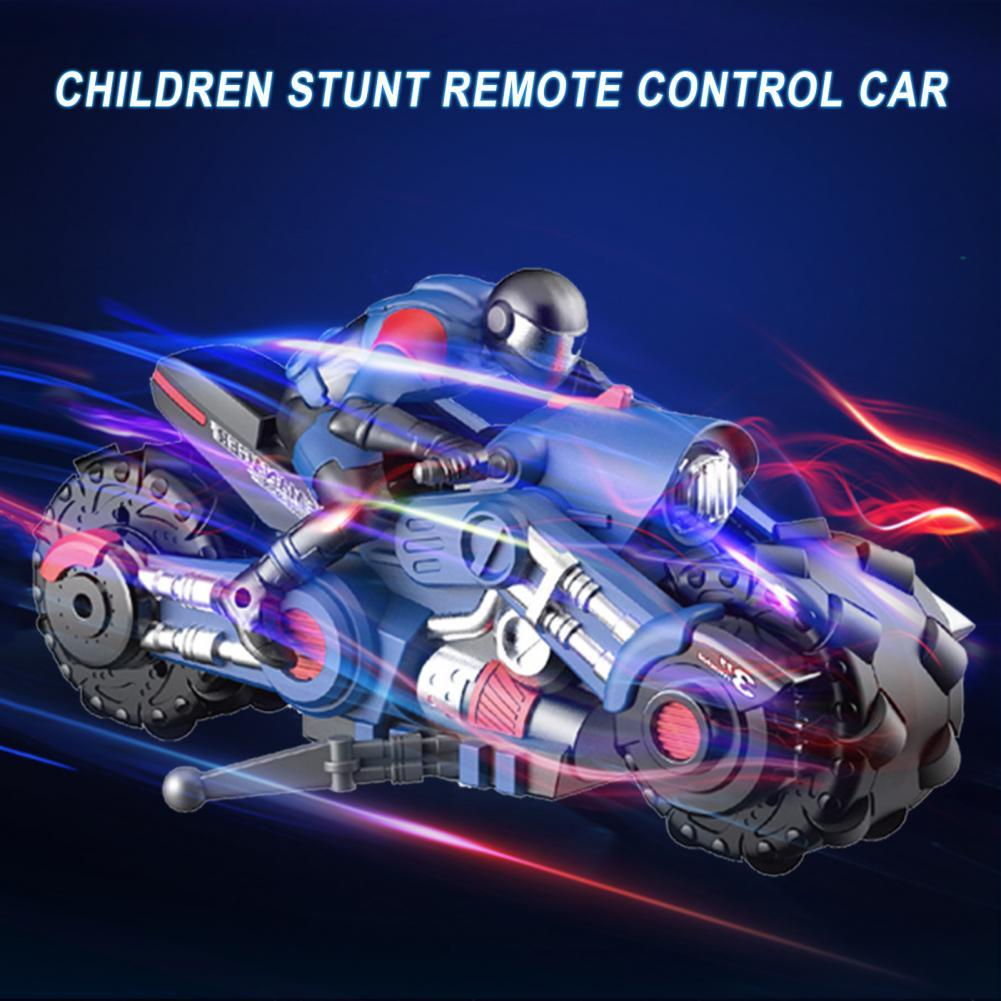 Motorcycle Stunt Toys Stable Signal Eye-catching Plastic 360 Degree Spinning Motorcycle Stunt Toys for Kids motos motocicleta