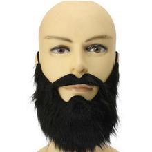 Реквизит для Хэллоуина, искусственная борода, борода, черная и белая с рисунком, большая борода для мужчин, забавная борода, флисовая борода