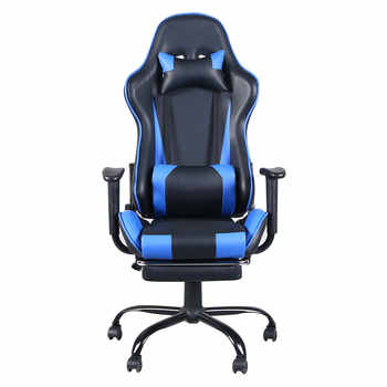 Gaming Chair Office Desk Chairs Racing Gaming Chair Office Chair with Footrest Tier Computer Chair Heavy-duty Chairs Black Blue - DISCOUNT ITEM  20 OFF Furniture