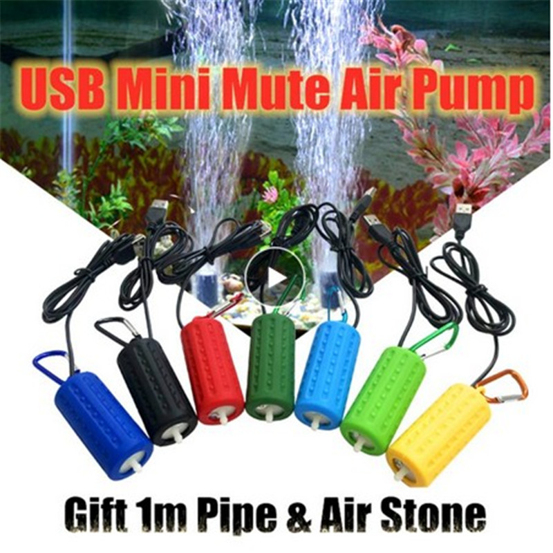 Aquarium Air Pump Fish Tank Portable USB Mini Oxygen Air Pump Mute Energy Saving Supplies Ultra Silent Ornament Oxygen Saving