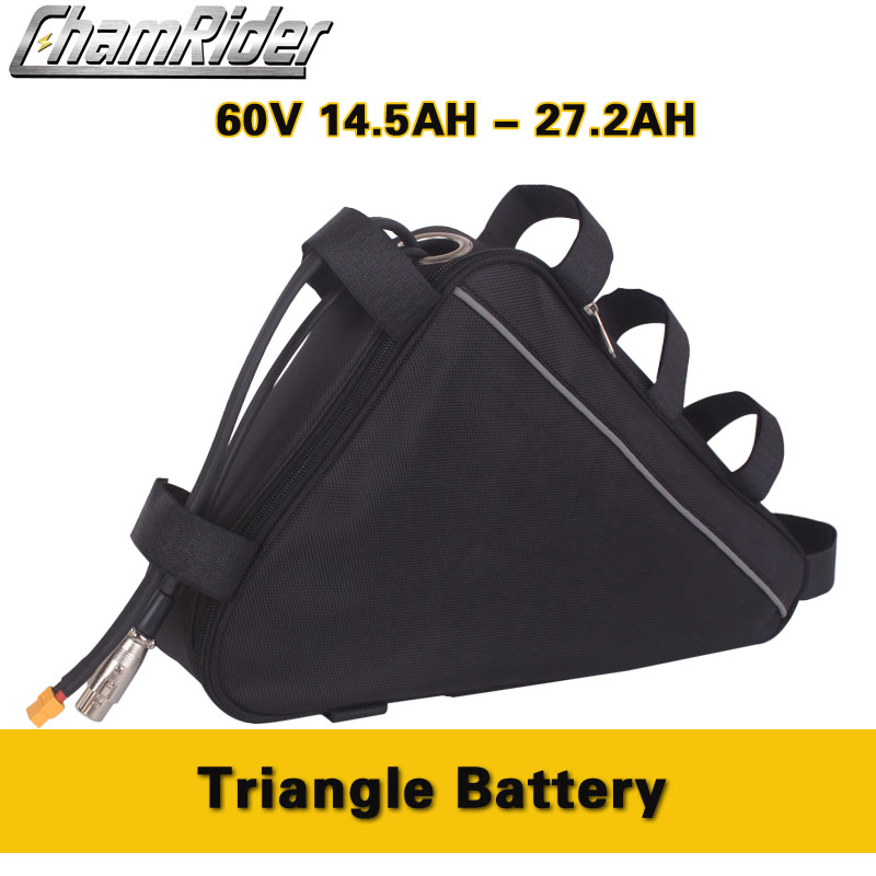 Chamrider Original <font><b>60V</b></font> ebike <font><b>Battery</b></font> Pack Triangle Frame Bag 10AH 20AH 60A BMS 500W 750W 1000W 1500W <font><b>2000W</b></font> 3000W EU TAX Free image