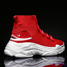 High Top Mens Sock Sneakers Couple Zapatillas Breathable Sneakers Women Ankle