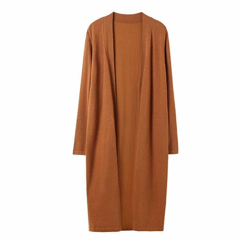 Amii 가을 우아한 3 조각 세트 여성 캐주얼 솔리드 니트 스웨터 루스 코트와 바지 11920160