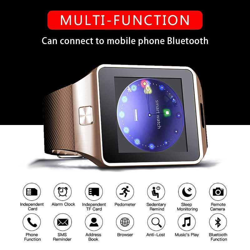 Neue DZ09 Smartwatch Smart Uhr Uhr Digitale herren Uhr Bluetooth SIM TF Karte Kamera Für Android smart Handy armbanduhr