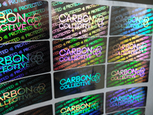 Customize Hologram stickers  sliver color material  security warranty counterfeit  one time use sticker printing