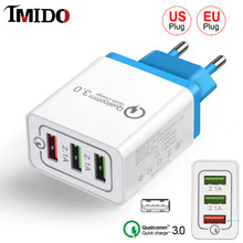 High Quality EU US Phone Fast USB Charger for Samsung Note 10 plus Universal 18W Quick charge QC 3.0 5V 3A Xiaomi iphone