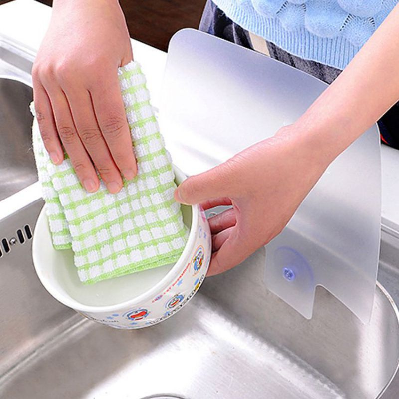 Oil Baffle Utility Wash Basin Removable Portable Suction Cup Type Silicone Sink Oil And Splash Proof Baffle Kitchen Tool Nm