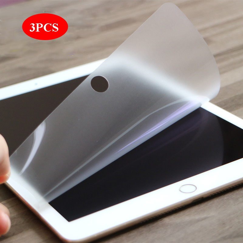 3 PCS PET Soft Screen Protector For Ipad 2 3 4 Pro 11 2020 9.7 10.5 2018 10.2 2019 Protective Film For Ipad Mini 1 2 3 4 5 Air