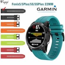 Garmin Fenix5 5Plus 5S 5splus ремешок сменный ремешок для часов, быстросъемный силиконовый ремешок Цвет затычка от пыли