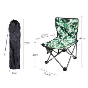 Image 3 - Cadeira de acampamento ao ar livre portátil piquenique dobrável dobrável cadeira ultraleve pesca nova folha de carne verde flor cadeira