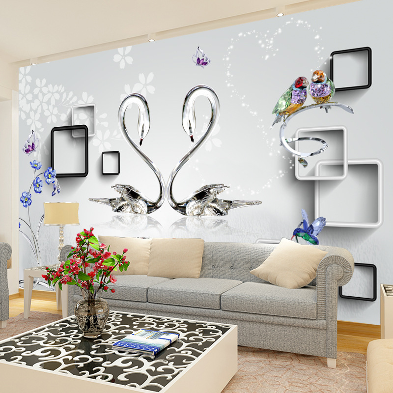 3D Wallpaper Mural Living Room Television Background Wall Simple Sofa Bedroom Whole Piece Film And Television Wall Wallpaper Coo