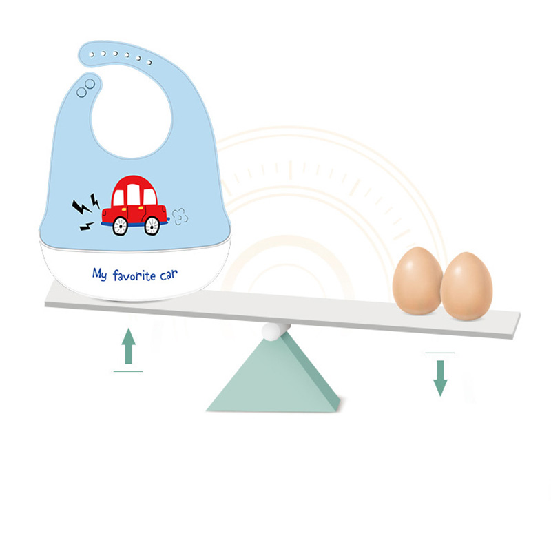 Cute Cartoon Baby Bibs Waterproof Silicone Letter Car Print Baby Stuff Kids Girl Boy Feeding Bibs Adjustable Children Bib