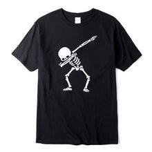 100% cotone di Alta qualità per gli uomini manica corta tamponando stampa del cranio degli uomini T shirt casual o-collo di estate mens tee shirts O-collo tshirt