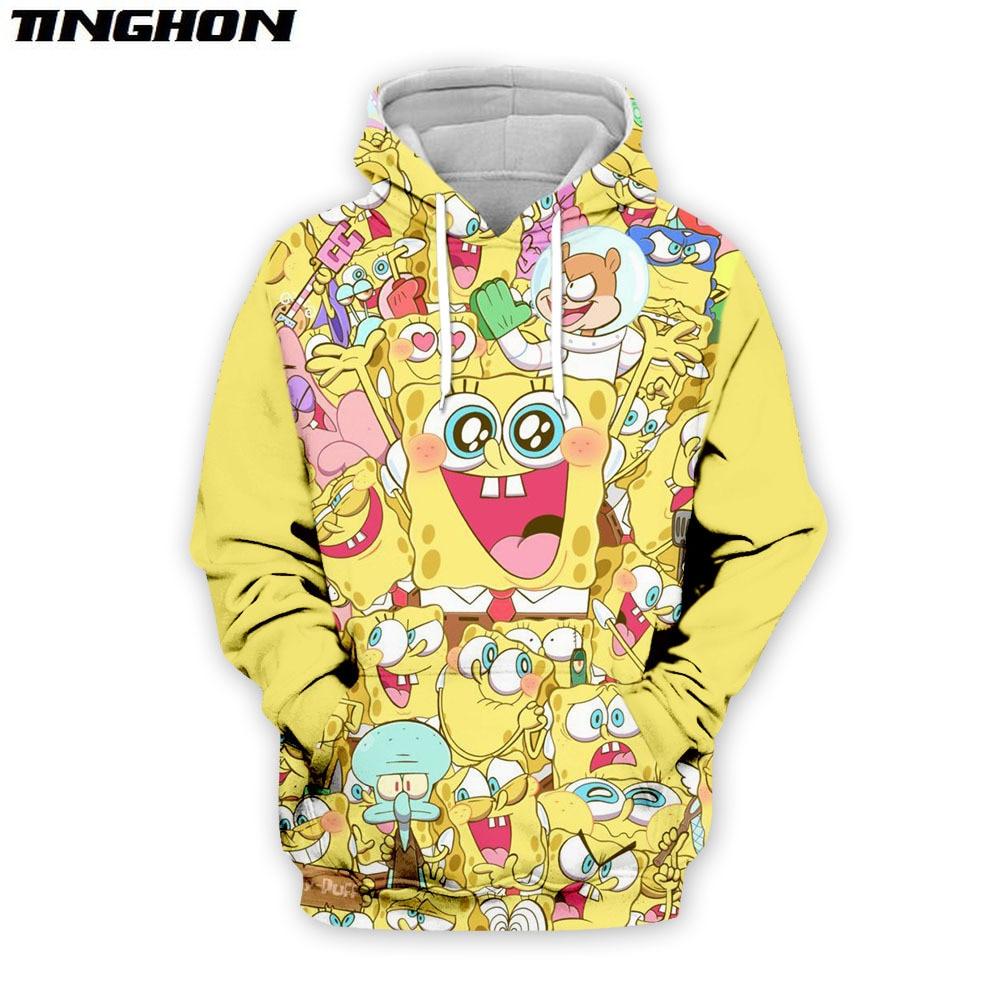 SpongeBob New Fashion Harajuku 3D Full Printed Hoodie/Sweatshirt/Jacket/Men Women Hiphop Casual Plus Size XS 6XL 7XL