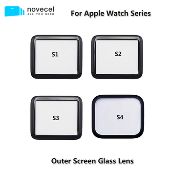 Front Screen Glass Lens for Apple Watch Series S1 S2 S3 S4 38mm 40mm 42mm 44mm Touchscreen Repair Outer Screen Glass Replacement image