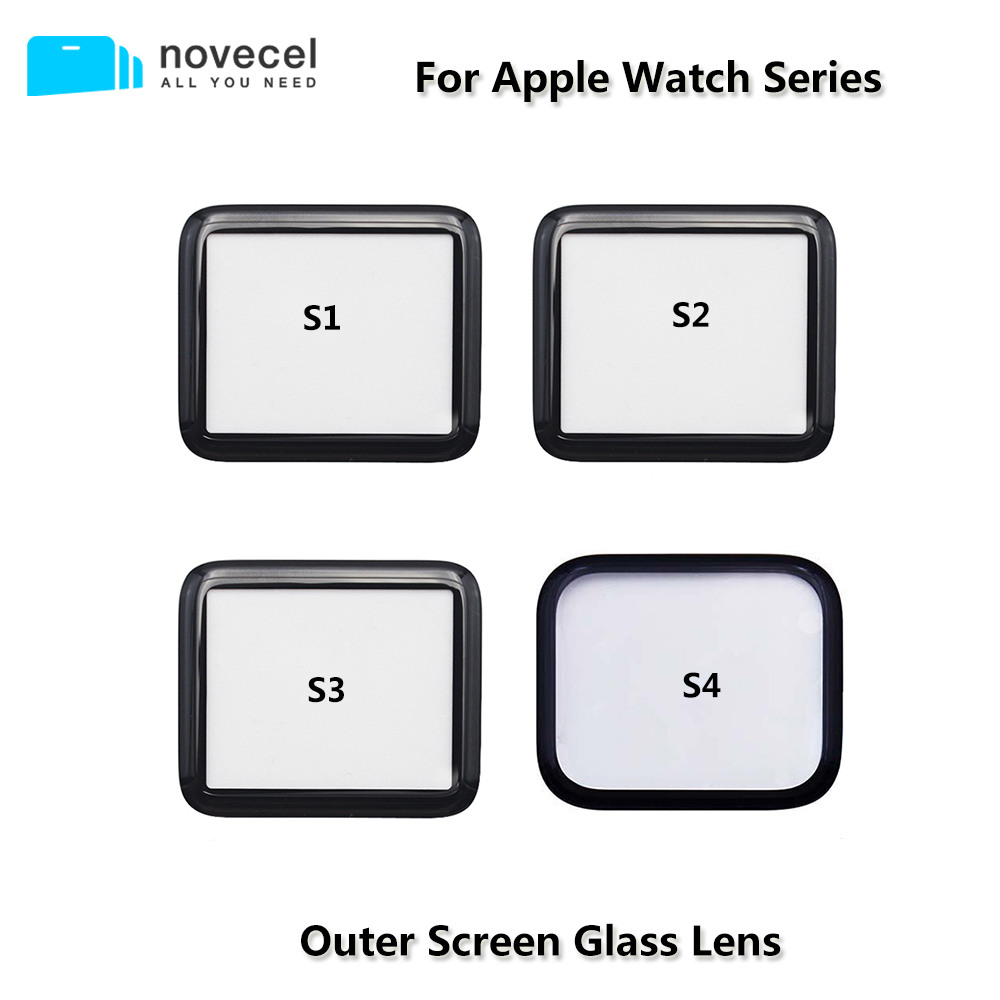 Front <font><b>Screen</b></font> Glass Lens for <font><b>Apple</b></font> <font><b>Watch</b></font> Series S1 S2 S3 S4 38mm 40mm <font><b>42mm</b></font> 44mm Touchscreen Repair Outer <font><b>Screen</b></font> Glass <font><b>Replacement</b></font> image