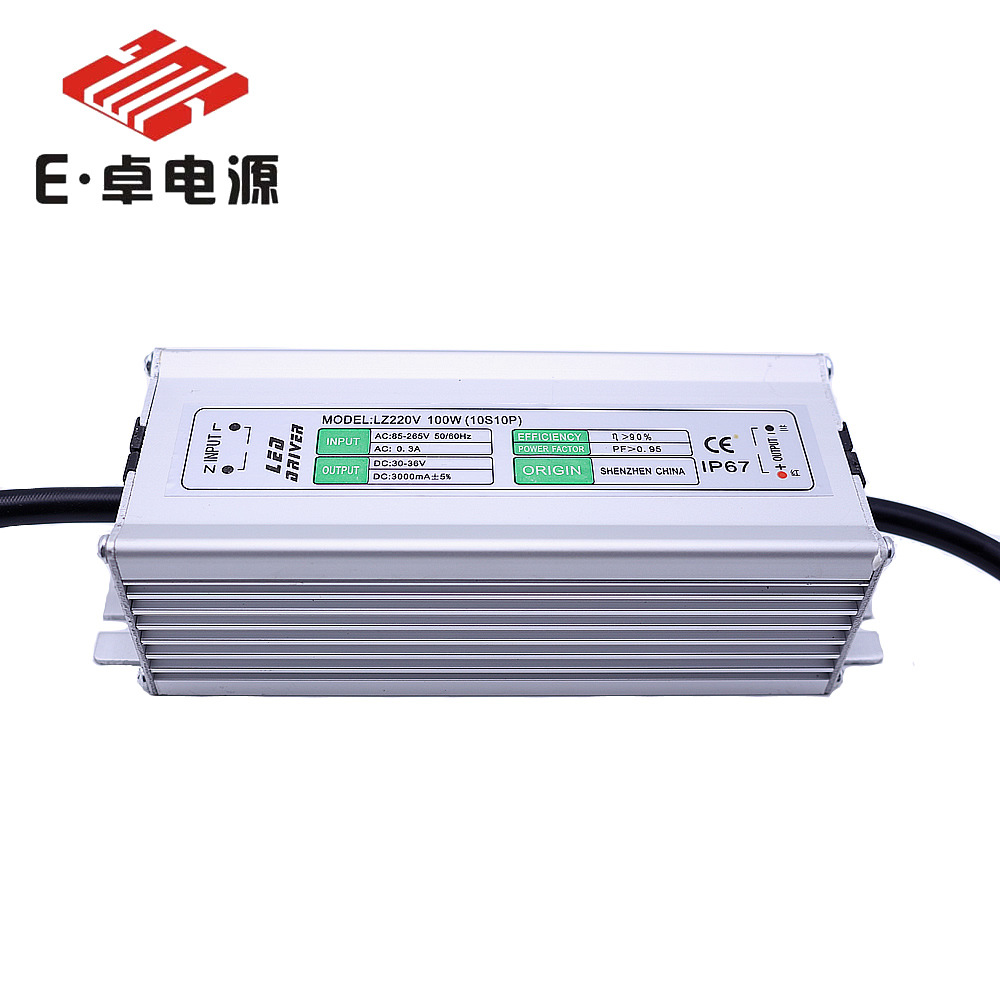Constant-current LED Power Supply Anti-Surge 6000V 100w10 String 10 And Project Lamp Street Lamp Mining Lamp Waterproof Power Su