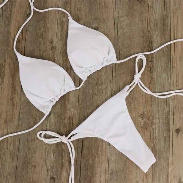 Sexy Women Bikini Brazilian Swimsuit Push-up Bra Bikini Set Two Piece Swim Suit Swimwear Beachwear Bathing Maillot De Bain Femme 4