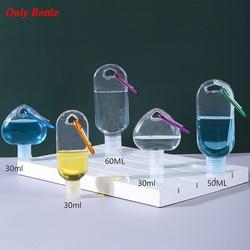 1pcs 30/50ml Portable Hand Sanitizer Bottles Trunk Nasal Spray Bottles Liquid Soap Shampoo Dispensers Hanging Inverted Bottle