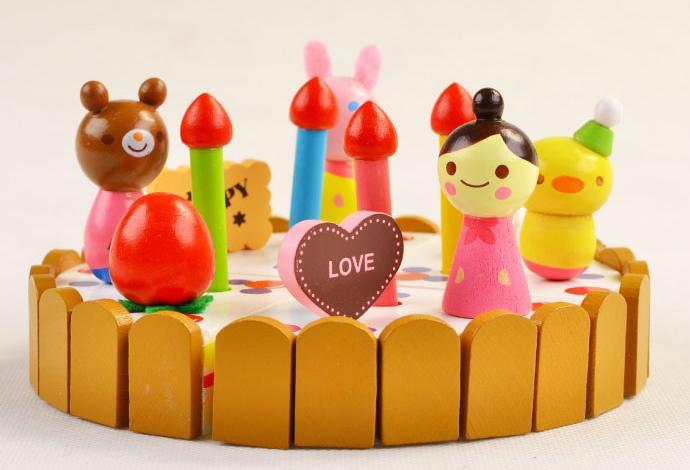 Klasične kuhinjske igrače Set modeli gradbeni kompleti Leseni okras - Igra igranja vlog - Fotografija 4