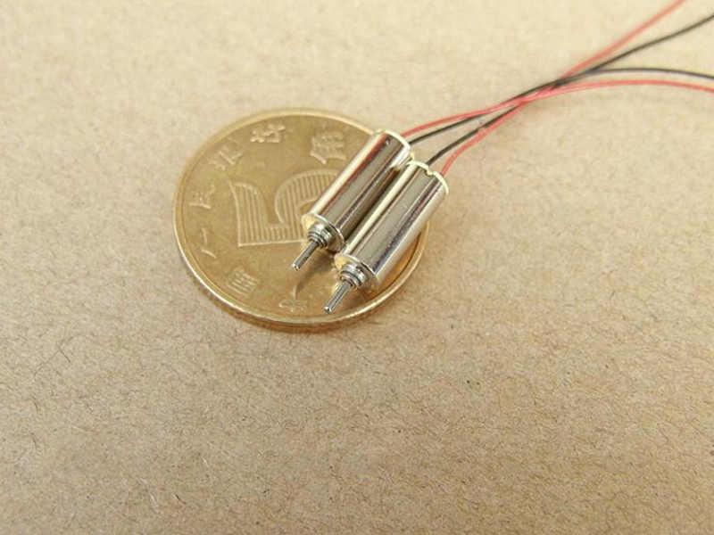 0410 4mm * 10mm minuscule sans noyau moteur cc 3V 65000 tr/min Ultra-haute vitesse Mini tasse creuse moteur électrique bricolage passe-temps jouet modèle