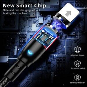 Image 4 - 2.4A Micro USB magnétique Type C câble pour iPhone 11 Xiaomi Android téléphone portable charge rapide USB câble aimant chargeur fil cordon