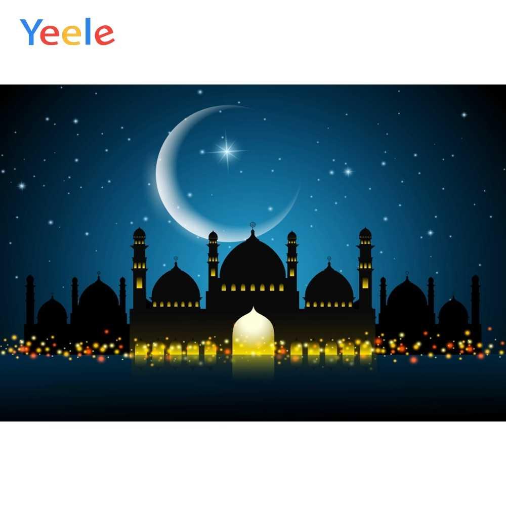 Yeele Langit Malam Berbintang Islam Masjid Pemandangan Bulan
