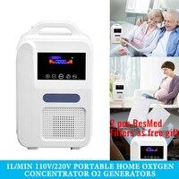 Draagbare Zuurstofconcentrator O2 Generatoren Luchtreiniger Ventilator Slaap Mini Zuurstof Machine Voor Thuis