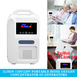 Portable Oxygen Concentrator O2 Generators Air Purifier Ventilator Sleep MINI Oxygen Machine For Home