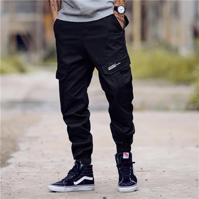 LOMAIYI Camo Joggers Men Cargo Pants Mens Military Black/Camouflage Pants Pure Cotton Men's Cargo Trousers With Pockets BM305 4