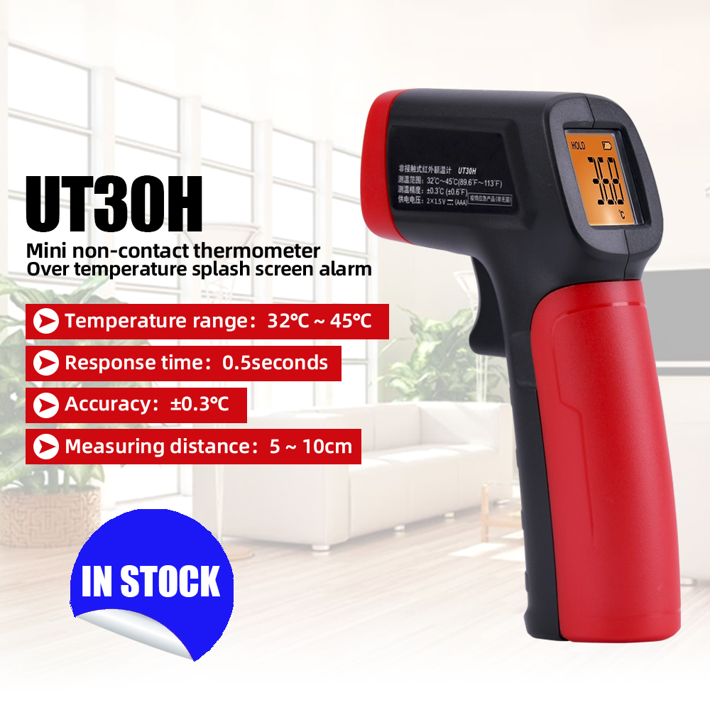 A-BF UT30H Infrared Thermometer Human Body Temperature Measuring Tool Non-contact High Precision Measuring Tool
