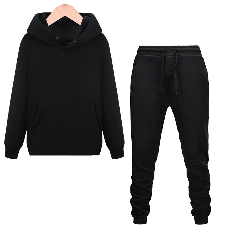 Men's Printed Hoodie Pants Set Men Tracksuit Hoodie Sweatpants Autumn Winter Running  Jogging Sportswear Suits