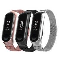 Correa de reloj inteligente de acero inoxidable para Xiaomi mi Band 3 4 correa de muñeca para Xiaomi mi band 3 4 pulsera para mi Band 3