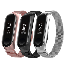цена на Smart Watch Strap Metal Stainless Steel Strap For Xiaomi Mi Band 3 4 Wrist Strap For Xiaomi Miband 3 4 Bracelet For Mi Band 3