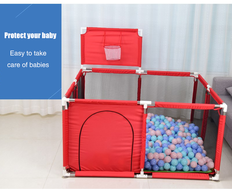 Baby Playpen Made With Stainless Steel Tube For Baby Pool Balls 11