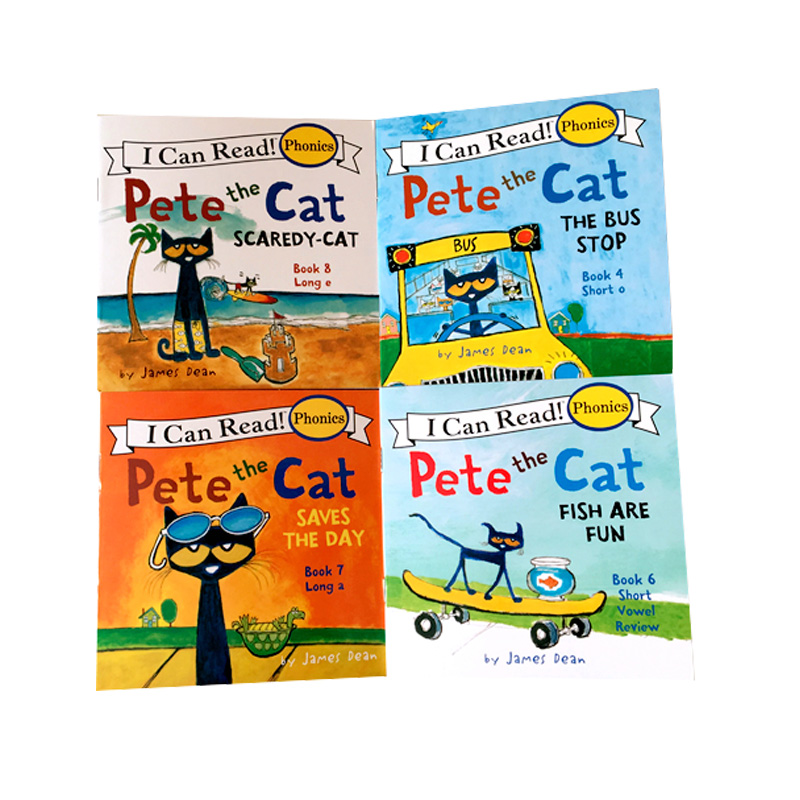 12 Book/Set I Can Read The Pete Cat English Books For Kids Story Book Educational Toys For Children Pocket Reading Book 13x13CM 3