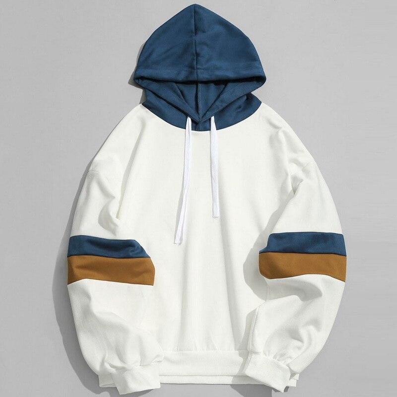 Sleeve Hoodies Sweatshirts Men Women Color Block Patchwork Hoodie Hip Hop Streetwear 2020 Oversized Outwear Long Sleeve Hoody