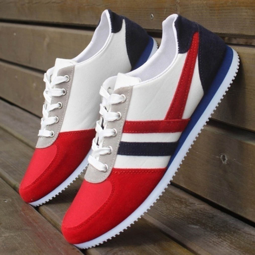 New Men Shoes Shallow Man Sneakers Mixed Color Fashion Men's Lace Up Sports Loafers Casual Unisex Sneakers Flat Canvas Shoes