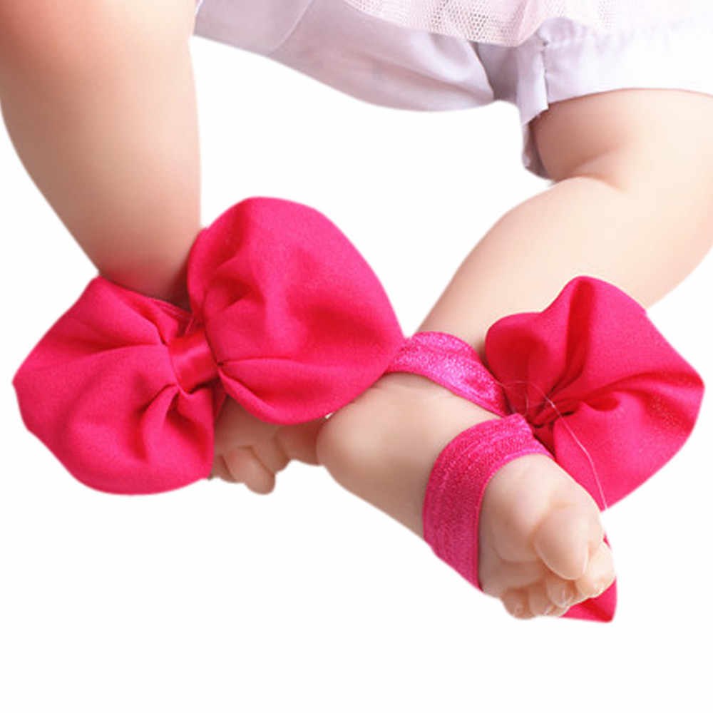 1Pair New Born Baby Girl Shoes 1 Year Infant Newborn Toddler Shoes Baby Girl Baby Booties 2019 First Walkers Bowknot Barefoot
