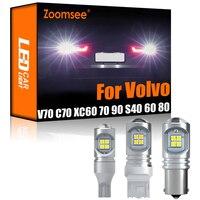 Zoomsee 2Pcs LED retromarcia bianco per Volvo V70 V50 V60 XC60 70 90 C30 C70 S40 S60 S70 S80 Canbus lampadina posteriore di Backup esterna