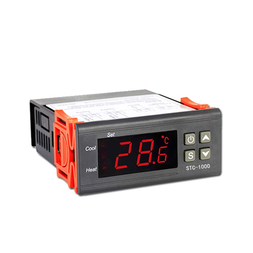 Digital Temperature Controller 12V 24V 220V Cool & Heat Centigrade Thermostat With Sensor STC-1000 For Refrigerator Fermenter