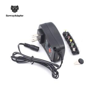 Image 2 - Универсальный адаптер 12V 3V 4,5 V 5V 6V 7,5 V 9V 2A 2.5A Регулируемый адаптер питания AC/DC зарядное устройство для Светодиодный светильник 30W